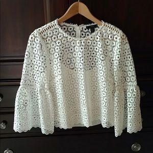 J-Crew Embroidered Top - size 6